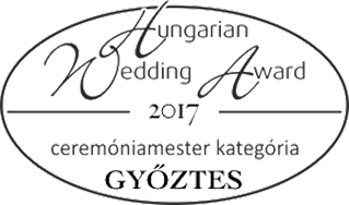 Wedding awards gála - Ceremóniamester Mester győztes 2017