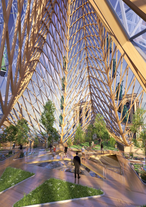 The new Notre-Dame with Rooftop Farm  - Master of Ceremony recommends 4U