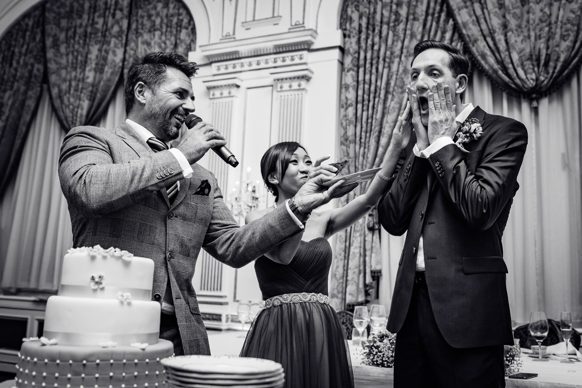 the wedding cake is FUN - MASTER OF CEREMONY RECOMMENDS 4U