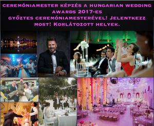 Ceremóniamester képzés a Hungarian Wedding Awards 2017-es nyertes és többszörös jelölt ceremóniamesterével