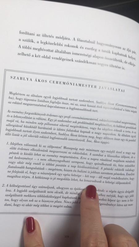 Szablya Ákos  Ceremóniamester kis írása Schiffer Miklós - Köszönöm, kérem – Jómodor akkor is létezik című könyvében