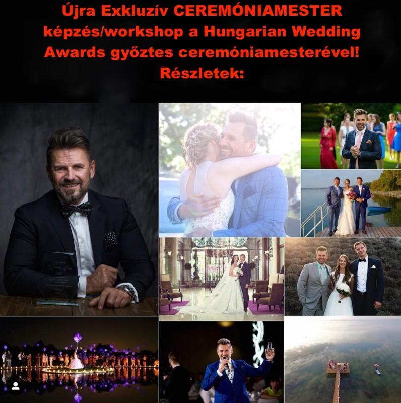 Újra Ceremóniamester képzés a Hungarian Wedding Awards nyertes és többszörös jelölt ceremóniamesterével