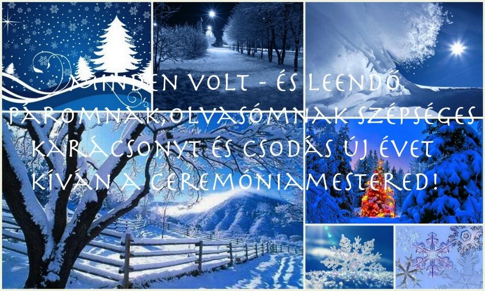 Szépséges Karácsonyt a volt és leendő párjaimnak, az oldal olvasóinak (is) kíván a ceremÓniamestered!