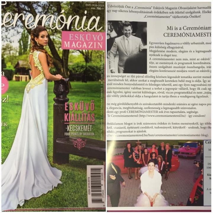 Velem , a Ceremóniamester (-eddel) is egy cikk -Ceremónia - Esküvő Magazin - Ceremóniamester ajánlja