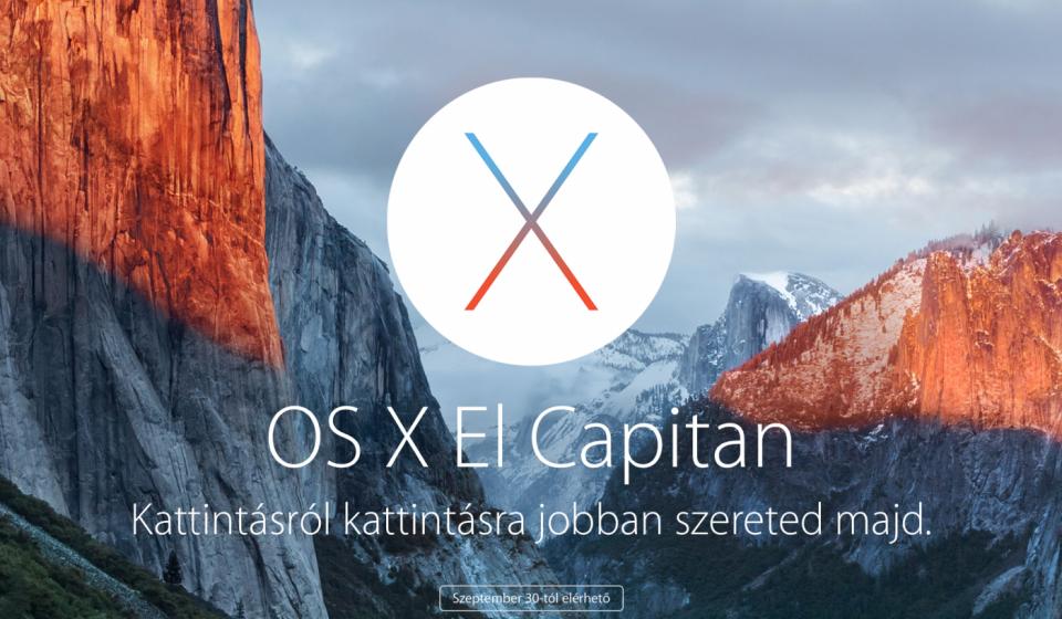 OS X 10.11 El Capitan - Te már fel is tetted!? - Ceremóniamester ajánlja