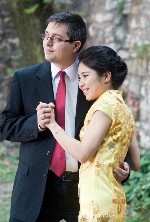Csaba és Yini - Különleges kínai esküvői vacsora ünnep és a Ceremóniamester