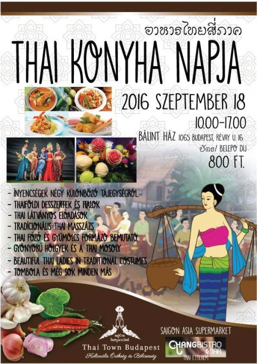 A Thai Konyha Napja Budapesten - Ceremóniamester ajánlja
