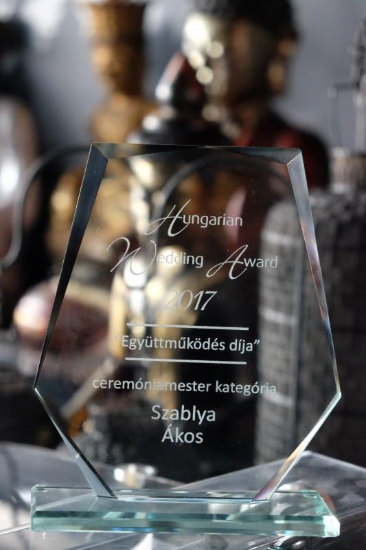 Szablya Akos a Hungarian Wedding Awards 2017 Ceremóniamester Kategória nyertese