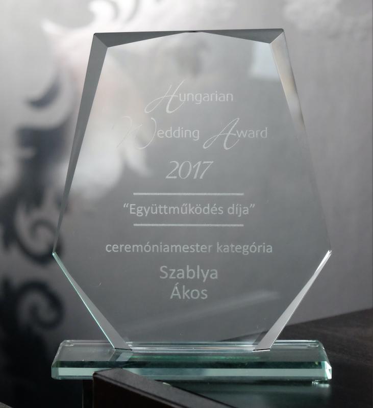 Szablya Akos a Hungarian Wedding Awards 2017 Ceremóniamester Kategória győztese